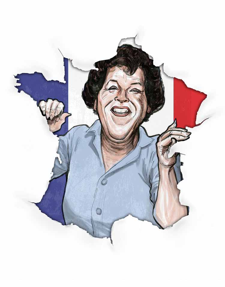 Julia Child Illustration