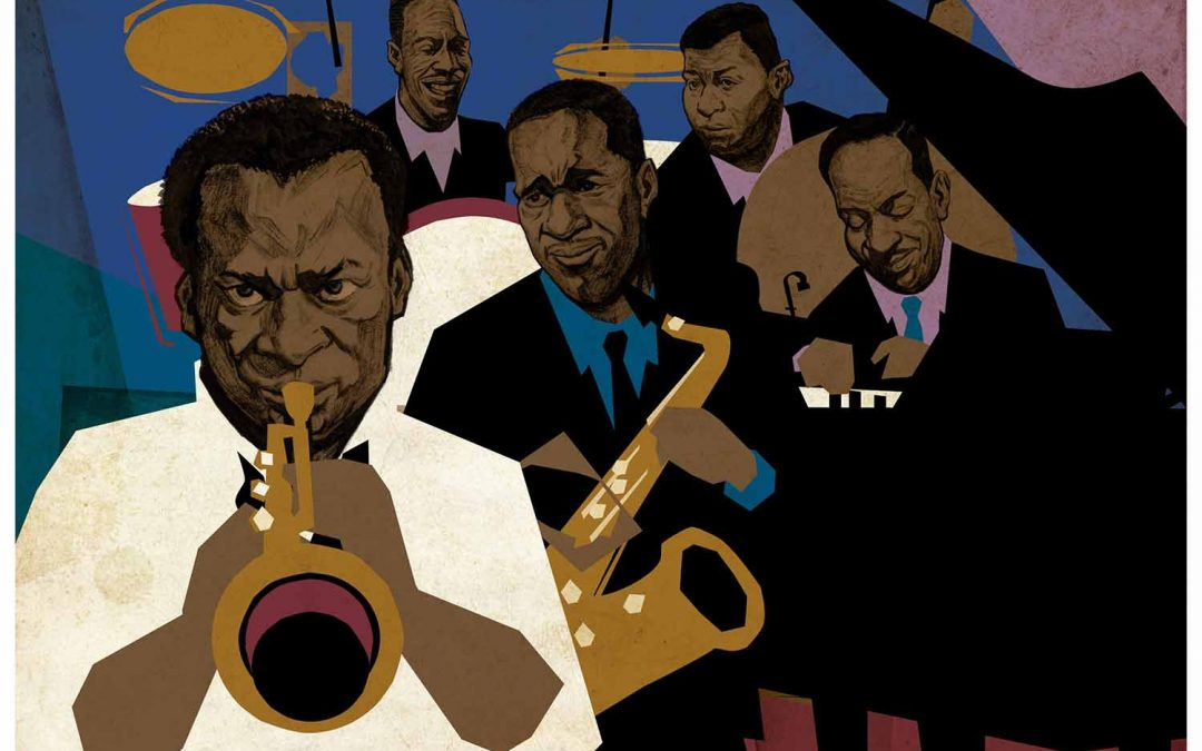 Miles Davis Quintet Illustration