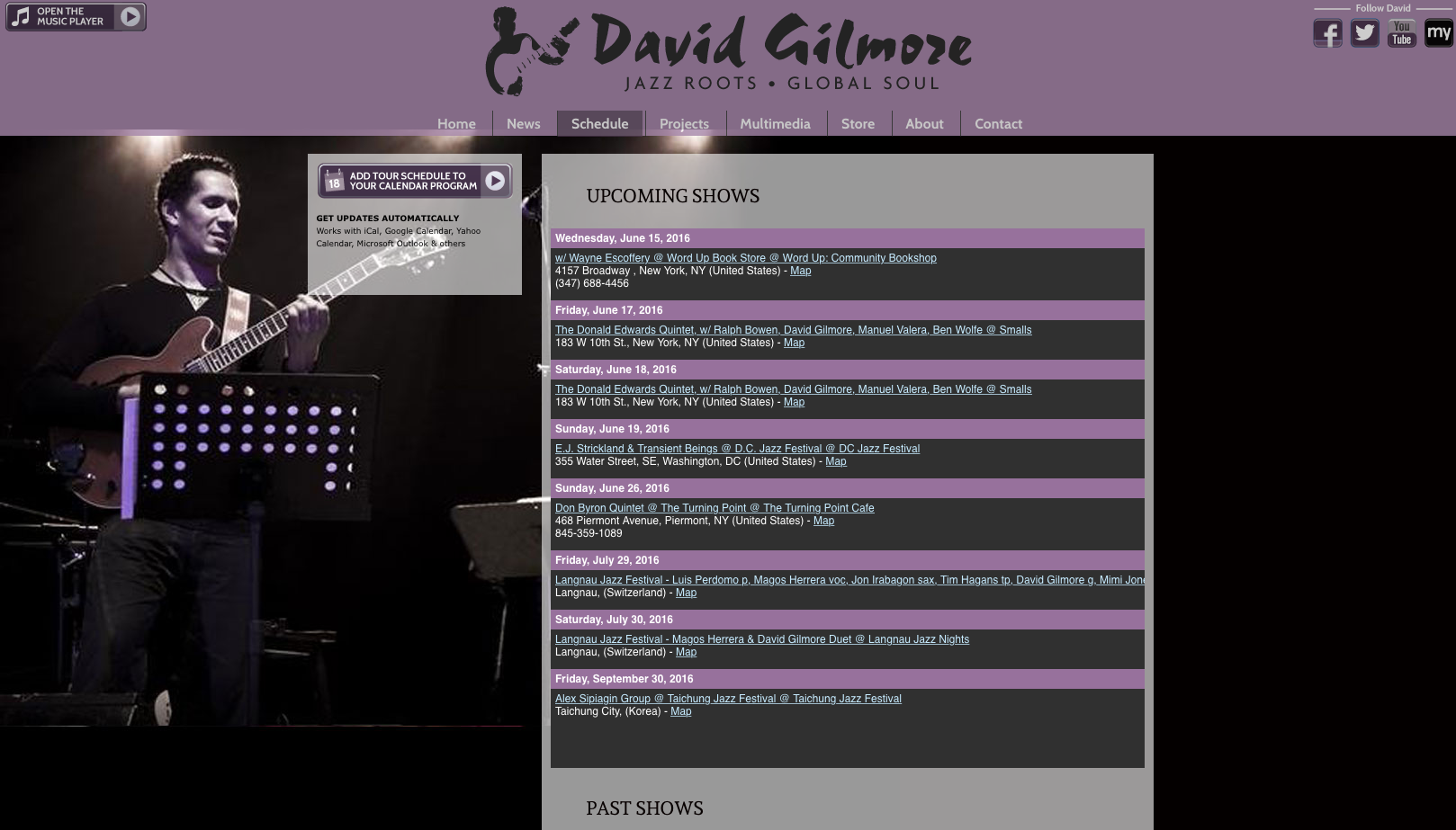 Divid Gilmore Events