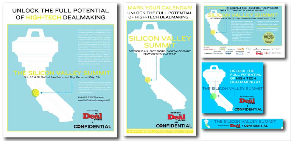 Silicon Valley Summit Print Design