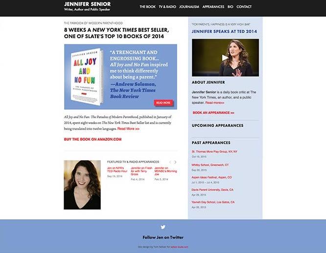 Jennifer Senior Homepage