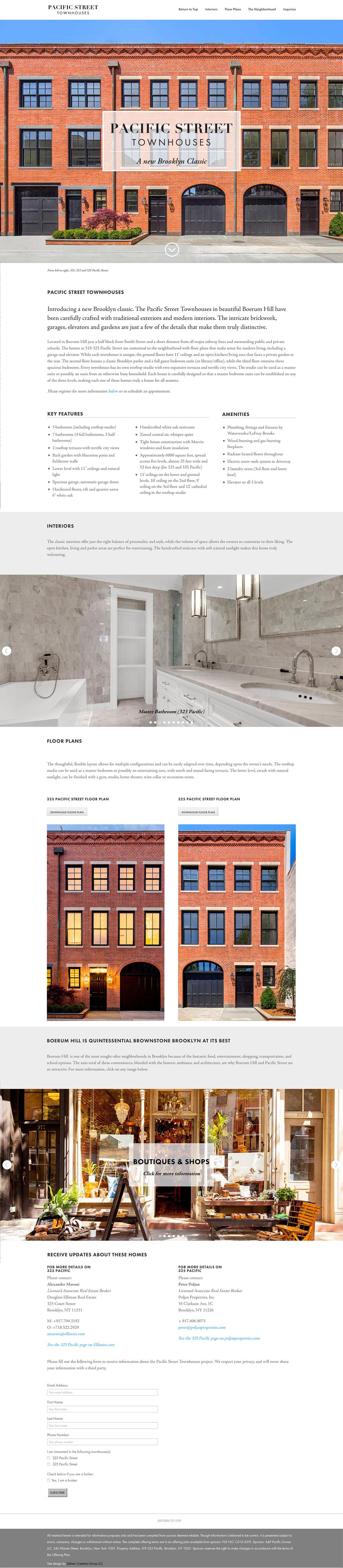 Pacific Street Townhouses Homepage